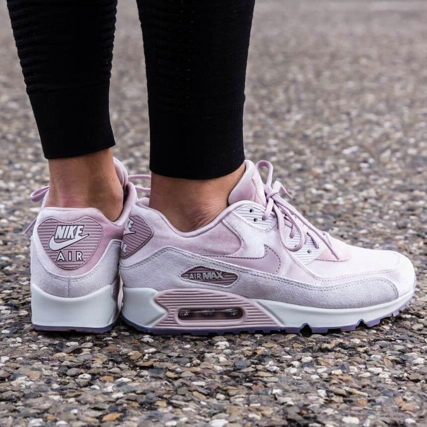 Nike Air Max 90 Lx Particle Rose Vast Grey Women S Shoe Comfy Lifestyle Sneaker Ebay Nike Air Max 90 Womens Running Shoes Nike Air Max