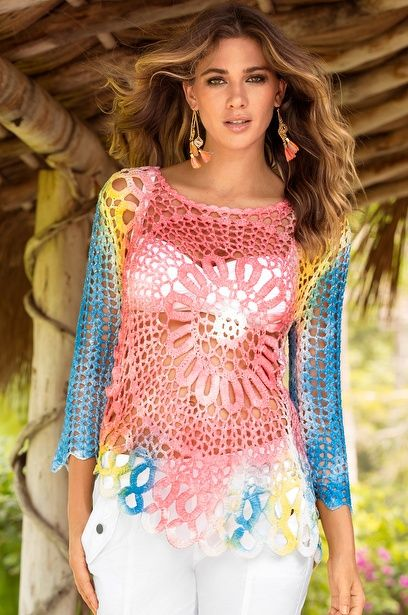 Daring crochet sweater   BOHEMIAN STYLE   Pinterest   Häkelmuster