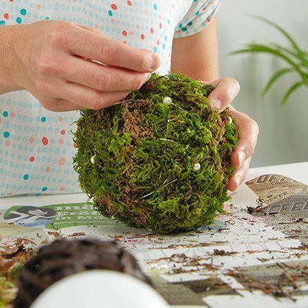 Mooskugeln selber machen #grabbepflanzungherbst