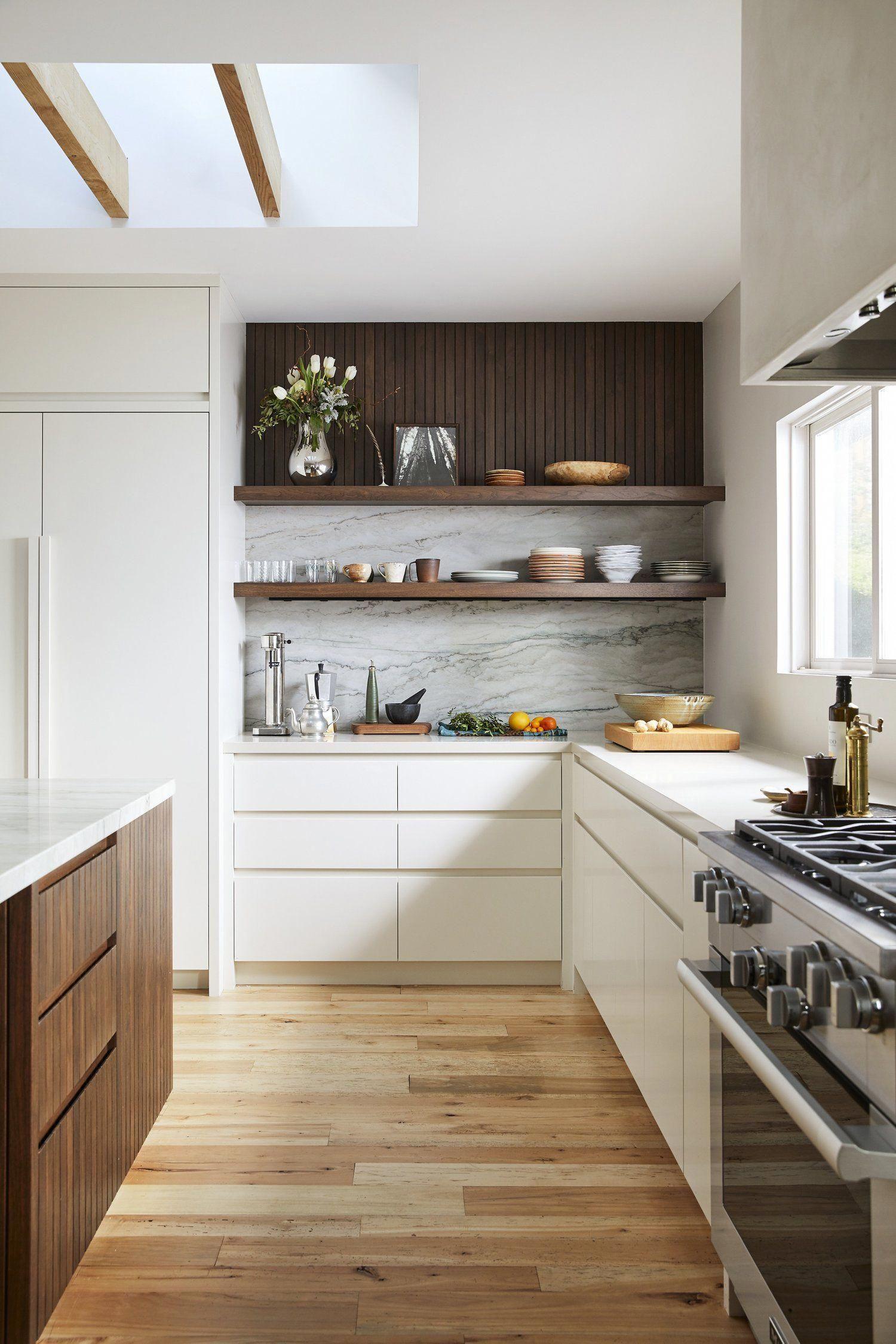 White Kitchen Cabinets Marble Kitchen Modern Kitchen Organic Kitchen Plaster Vent Hood Mod Kitchen Design Small Modern Kitchen Design Contemporary Kitchen