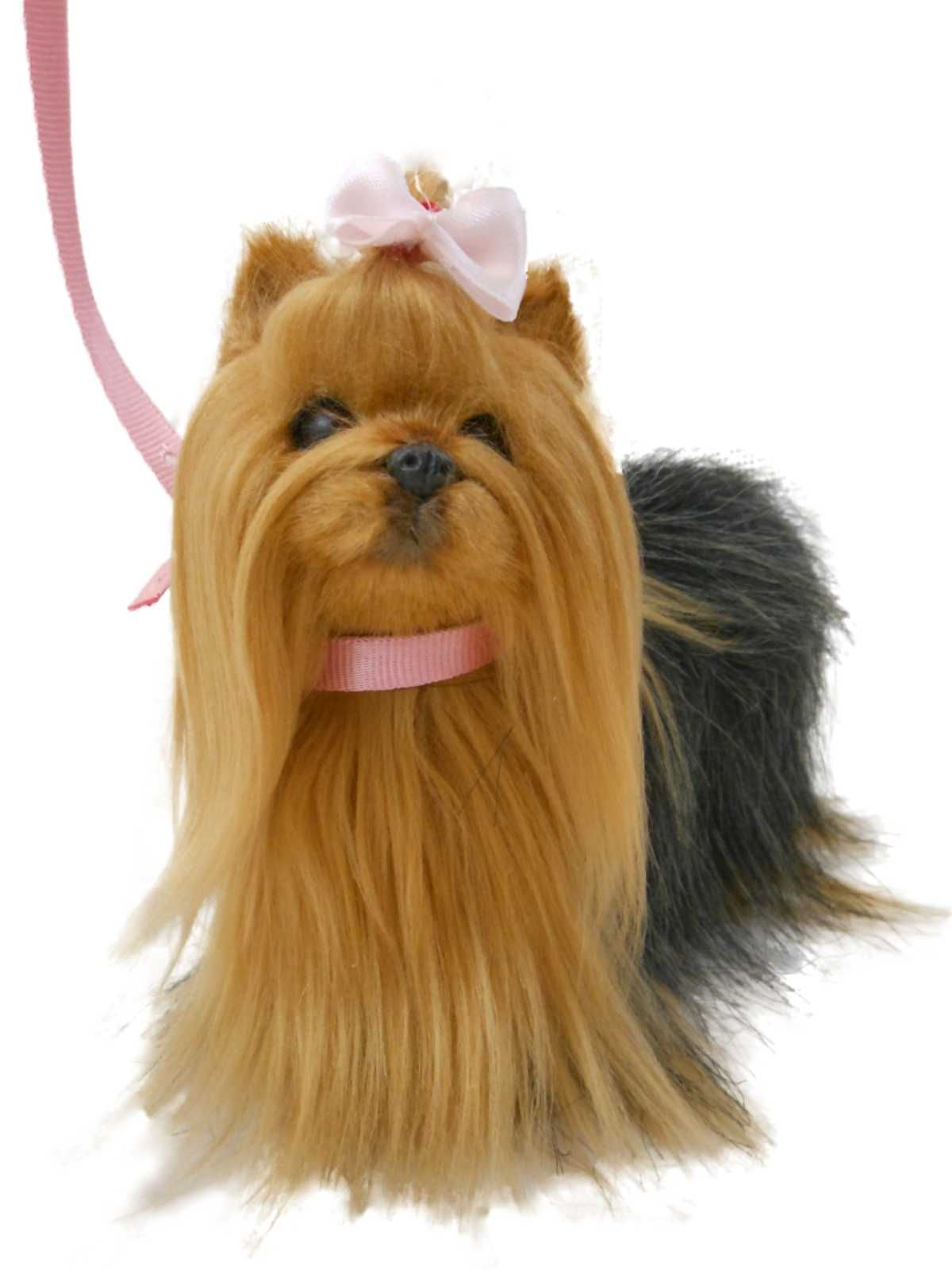 Doll S Best Friend Adorably Realistic Yorkie Dog With Collar Leash Awsom Perfect For Your 18 Inch American Animal Accessories Designed