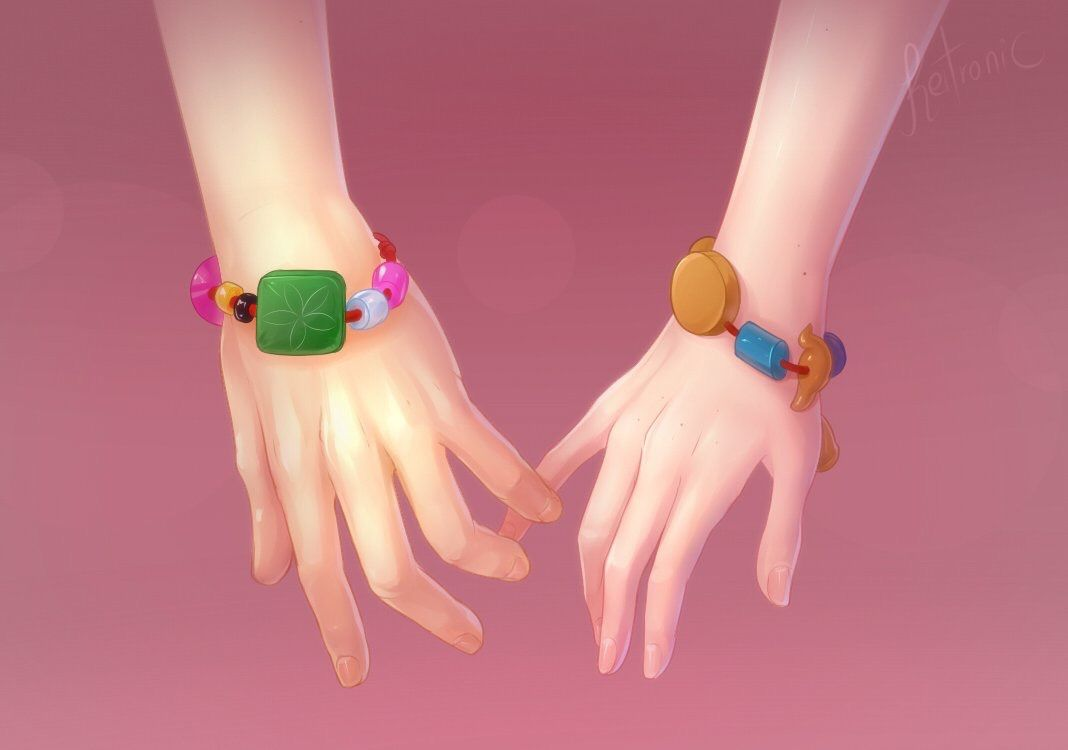 It\u0027s the bracelet that adrien made for Marinette and he\u0027s wearing her lucky  charm!!!! Ahhhhhh!!!!!!!! I can die happy ]