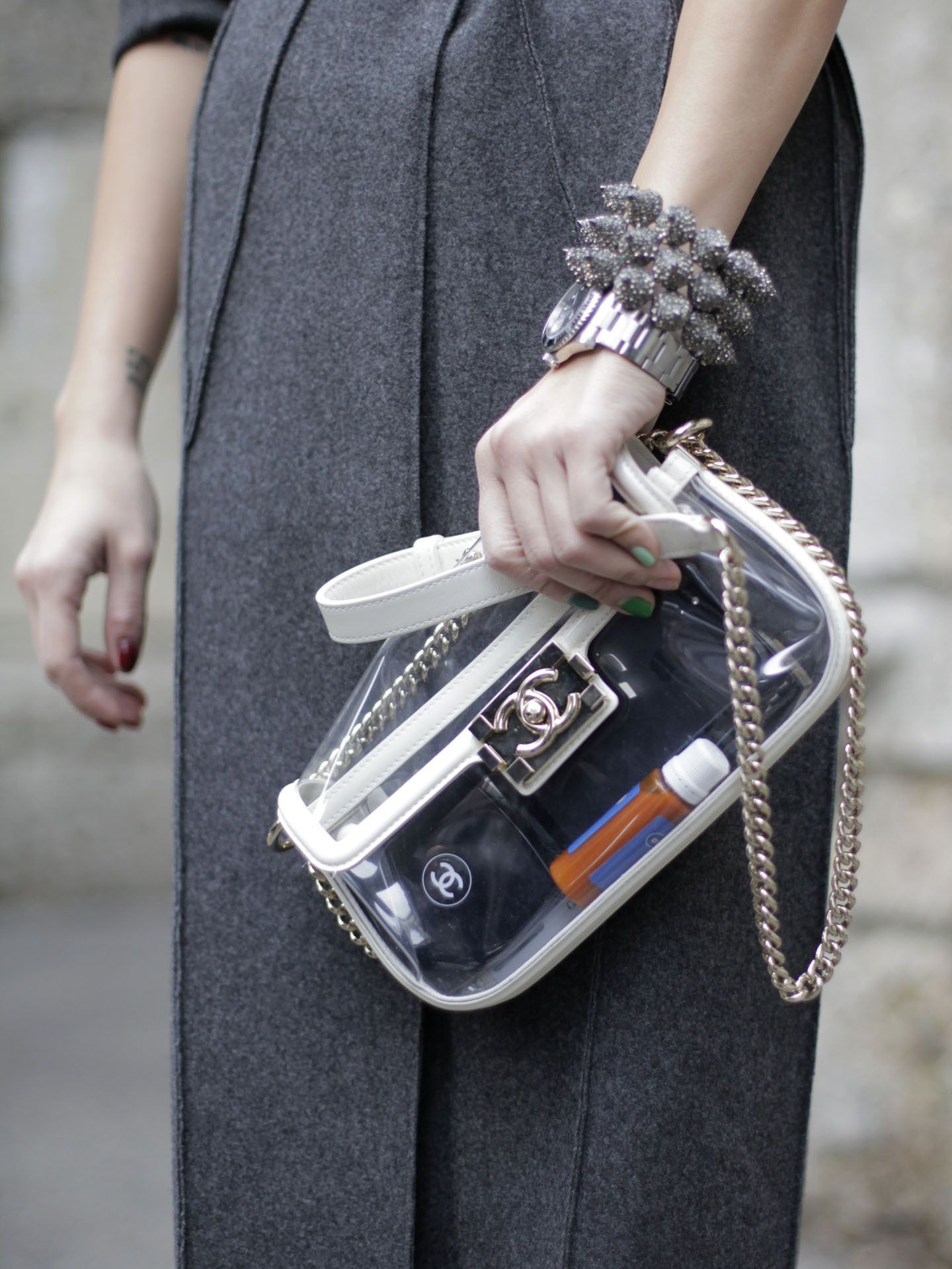 2b9dba0b69 transparent Clear Bags, Transparent Bag, Street Style, Hermes Kelly,  Passion For Fashion