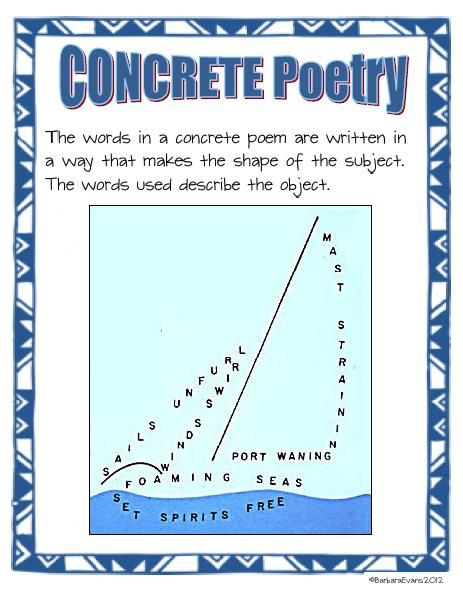 #9 of 10 free poetry posters -- Concrete Poetry