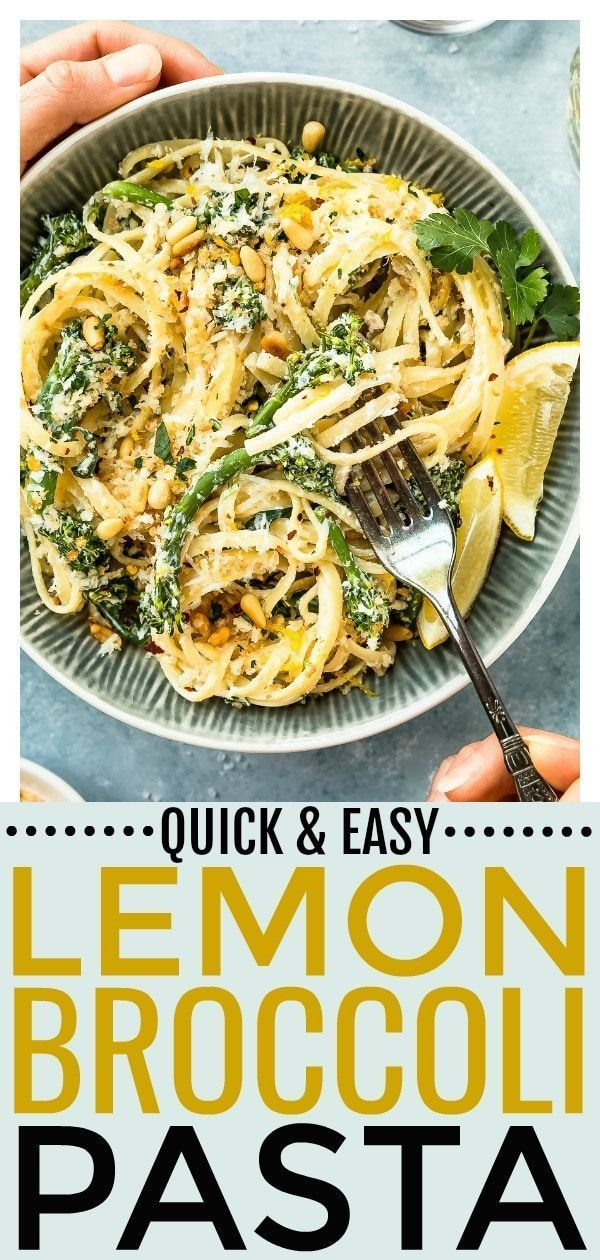 This quick and easy creamy lemon broccoli pasta can be made in 25 minutes ... -  This quick and eas