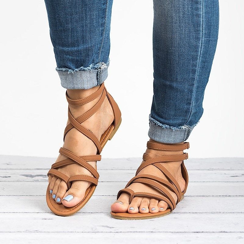 2fb47c76664c Casey Strappy Flat Sandals