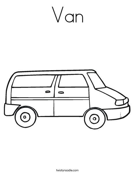 V Free Printable Van Coloring Page Party Truck
