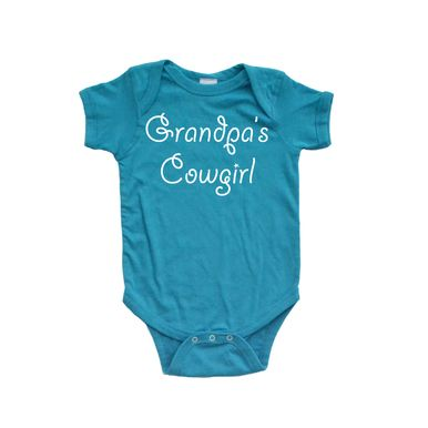 Apericots Grandpa's Cowgirl Cute Baby Soft Cotton Country Girl Western Bodysuit