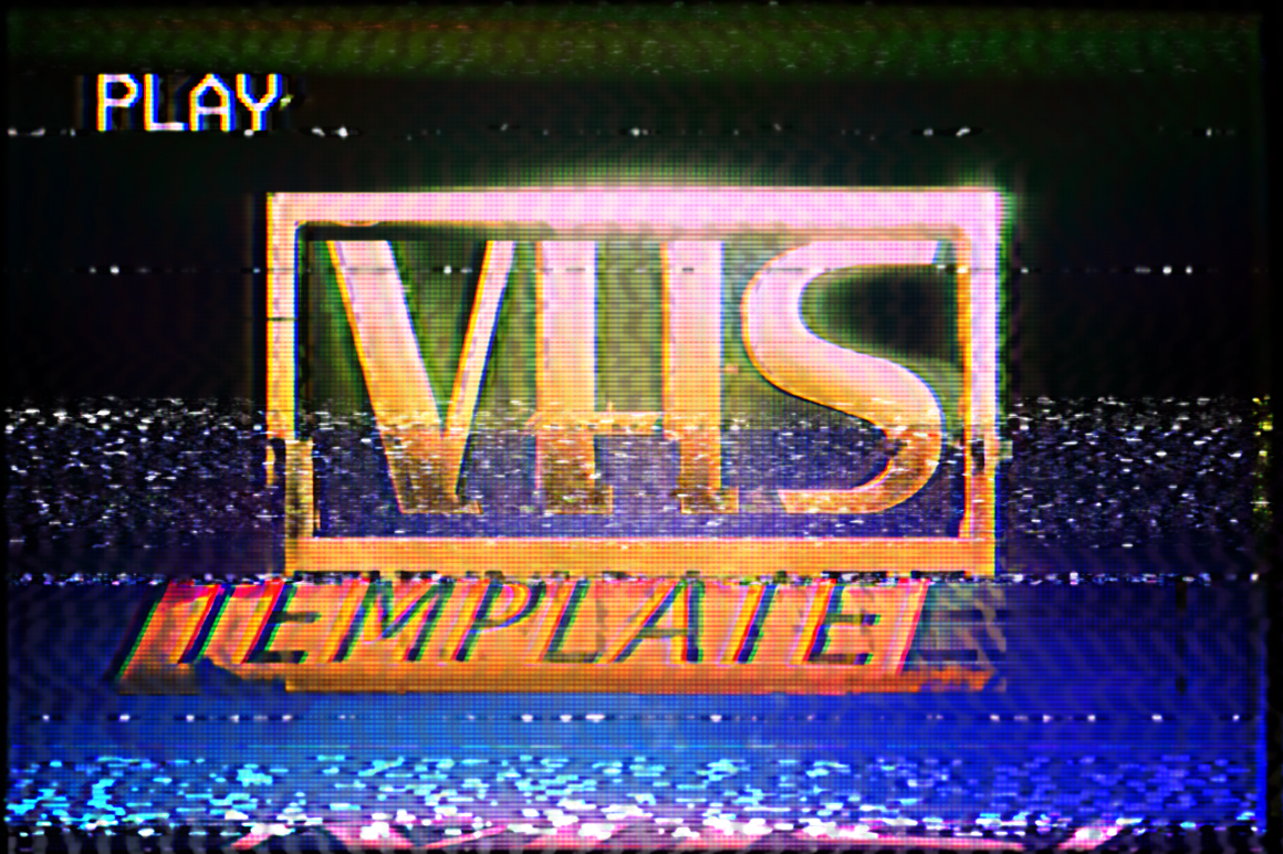 VHS Effect Template by Nice To Must Have on Creative Market