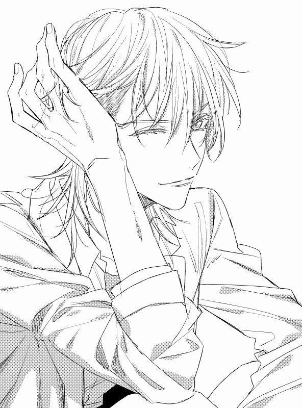 Wolf Boy Lineart Anime Drawings Boy Wolf Boy Anime Anime Cat Ears