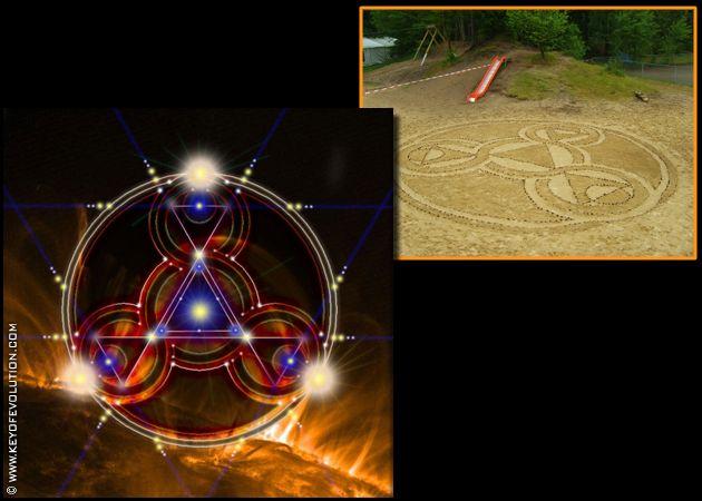 zandcirkel zand cirkel heilige geometrie code frequenties