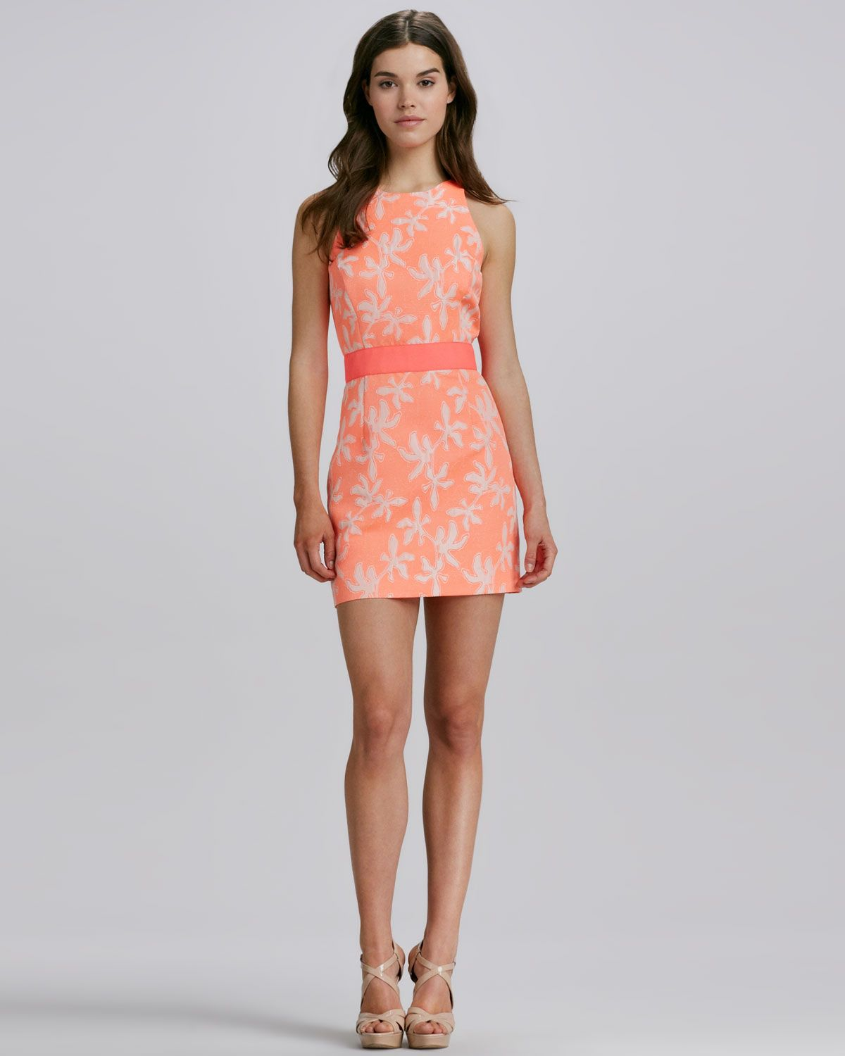 Milly sonya twotone short jacquard dress neiman marcus clothes