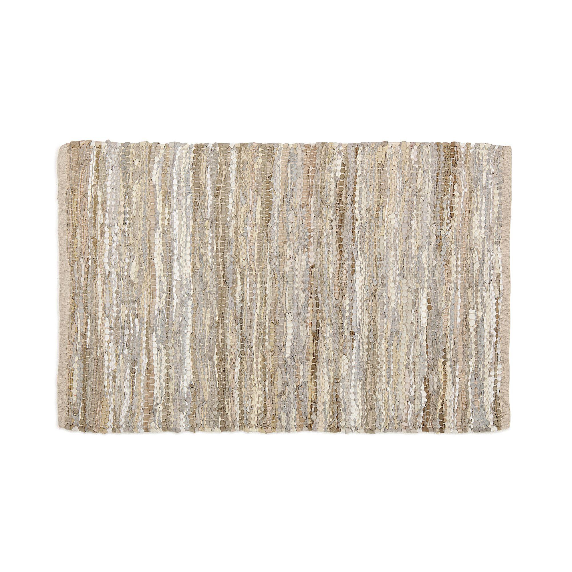 Tapis en cuir 140x200cm Ecru Makwa Les grands tapis Tapis