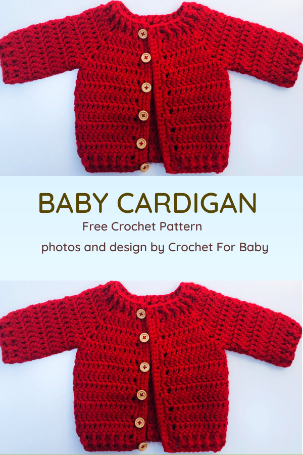 Crochet Baby Cardigan- So Comfy, So Adorable! [Video Tutorial] - Knit And Crochet Daily