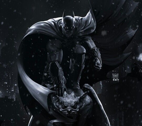 Batman - Epic pose on gargoyle | Batman wallpaper, Batman ...