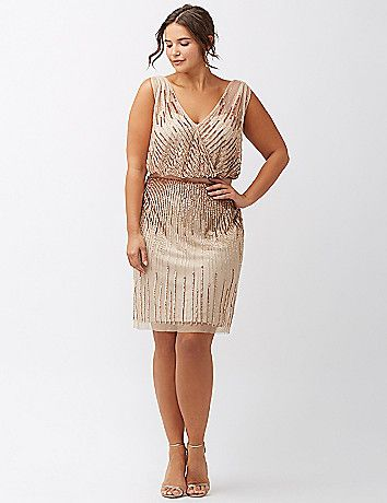 Plus size black and gold club dress