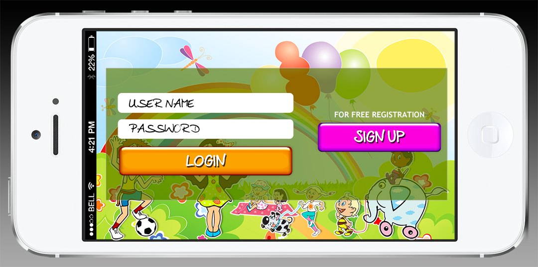 user login screen for a mobile game | Phone design, Ios apps, Mobile game