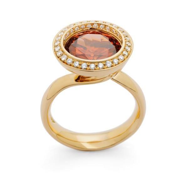 Reflect Cinnamon zircon and diamond #ring by Andrew Geoghegan
