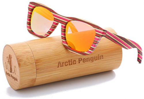 Men/'s Women Bamboo Wood Sunglasses Outdoor Party Wooden Temple Glasses New 2019