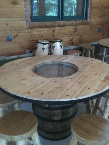 jack daniels barrel pub table bar pub tavern ideas. Black Bedroom Furniture Sets. Home Design Ideas