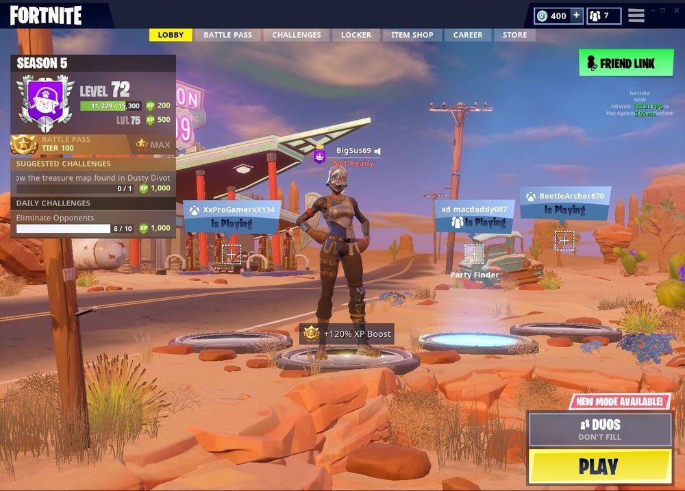 Fortnite Account Xboxpc 33 Skins Battle Pass Tier 100 Season 3
