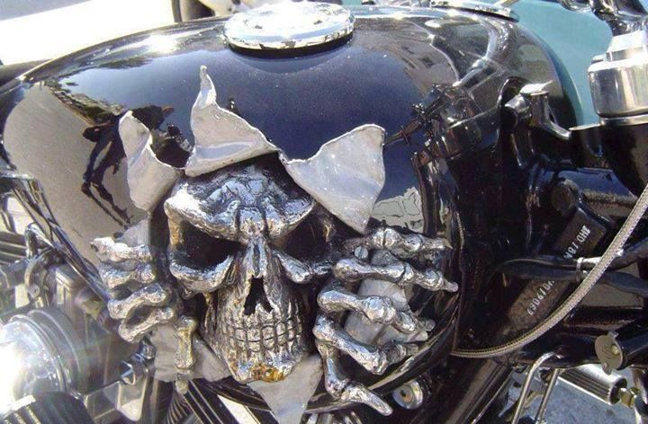 Wicked Skeleton Motorcycle Tank Carisma Motorcycle Motorcycle