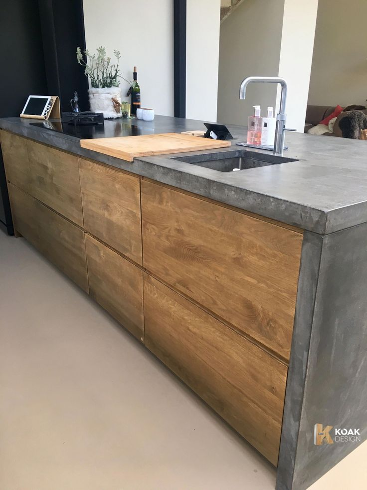 Koak Design With Concrete Countertop And Side Panels Ikea Kitchen Inspiration Ikea Kitchen Doors Kitchen Inspiration Design