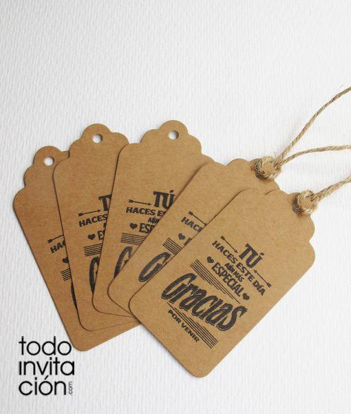 Etiquetas de kraft para presentar tus detalles y regalos - Recuerdos de bodas para invitados ...