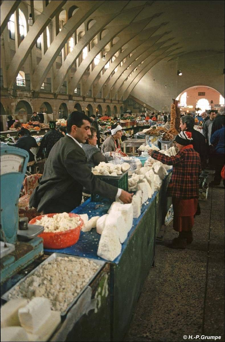 Armenian Market The Cheeses Are Possibly Kasck Or Tulums Armenian Culture Armenia Armenian Recipes