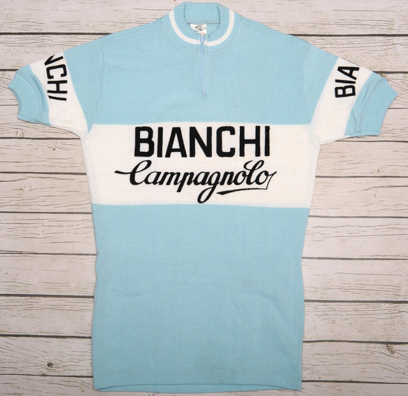 BIANCHI CAMPAGNOLO - 100% ACRYLIC - vintage short sleeve L EROICA JERSEY  cc323bf95