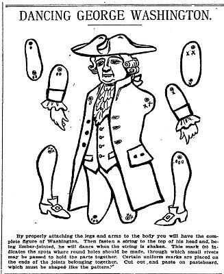 Dancing George Washington 1905 George Washington Craft Paper Dolls