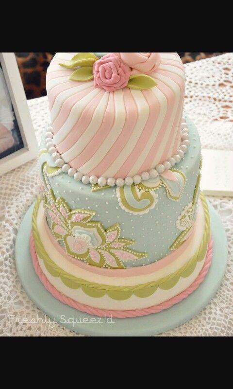 Kuchen, Schöne Torten, Mädchen Torte, Pastell, Dekoration, Ideen, Rezepte,  Rosa, Blau
