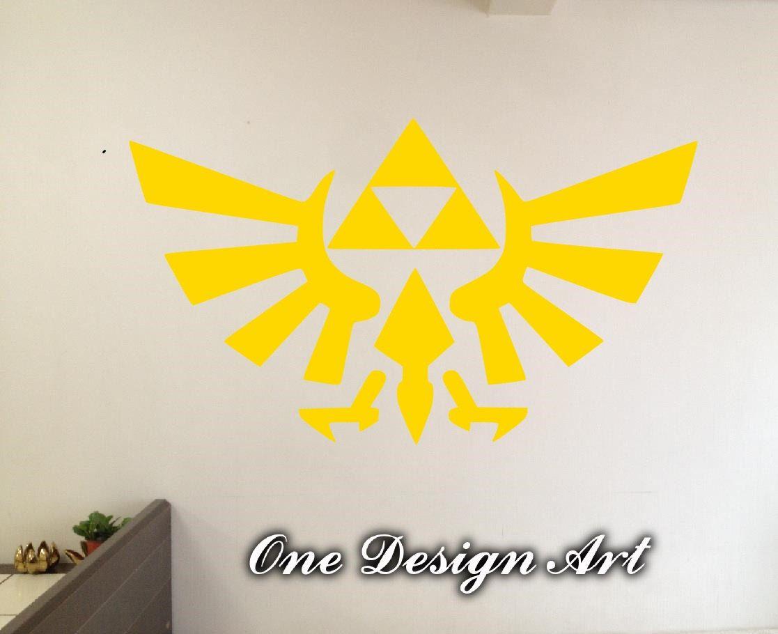 Legend of Zelda Triforce wall decals anime mural arts sticker for ...