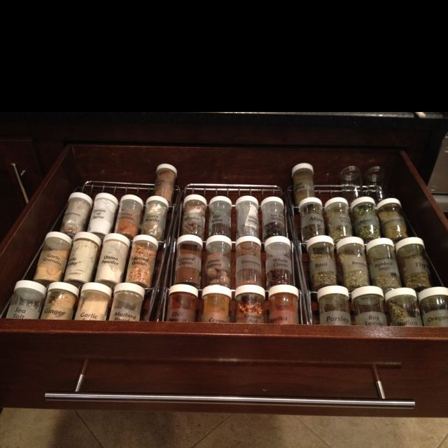 My Spice Drawer Customized Clear Labels On Sides And Tops