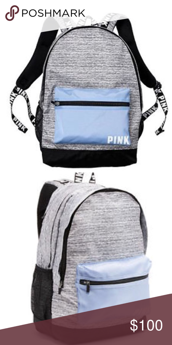 6f65b720ac Morning Sky Grey Marl PINK Campus Backpack PINK by Victoria s Secret. BNWT!  Sold out in stores and online! Taking offers! I have two for sale!