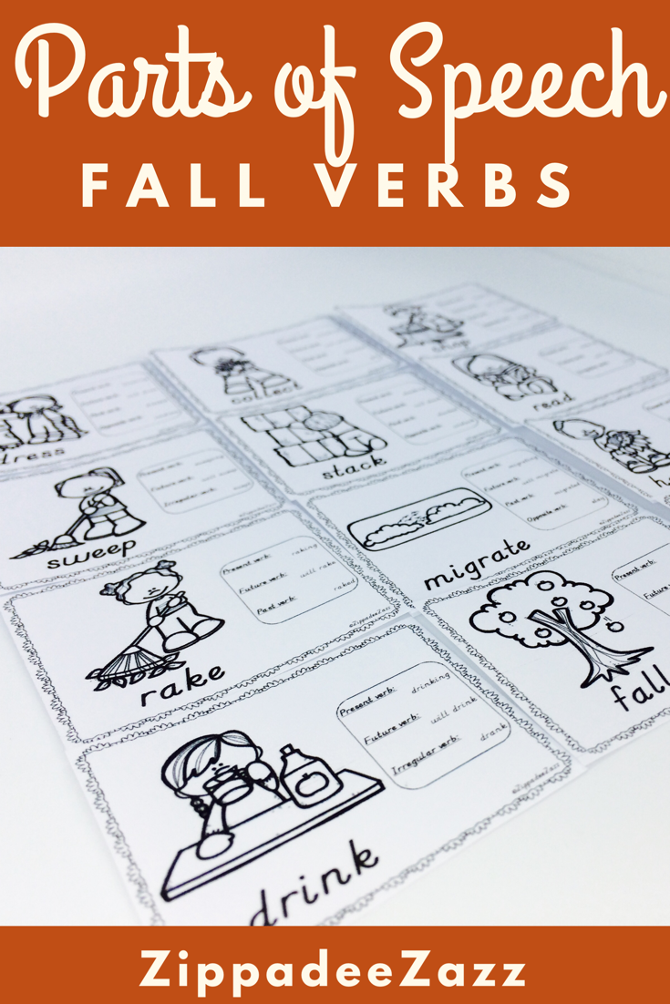 Worksheets For Parts Of Speech Verbs For Fall Parts Of Speech Parts Of Speech Worksheets Speech [ 1102 x 735 Pixel ]