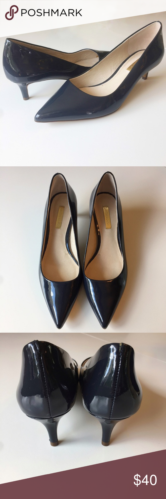 Louise Et Cie Lo Jacoba Patent Leather Kitten Heel Kitten Heels Shoes Women Heels Heels