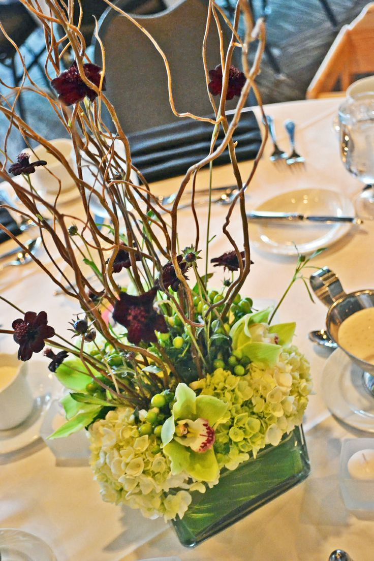 Curly Willow Low Square Flower Vases Wedding Google Search Green Centerpieces Gorgeous Centerpieces Wedding Vases