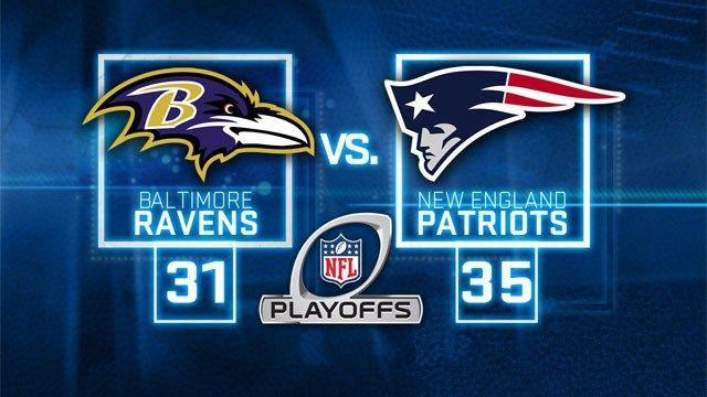 Playoff Game 2014 Brady Throws 3 Td Passes Patriots Beat Ravens 35 31 Ravens Patriots Patriots New England Patriots