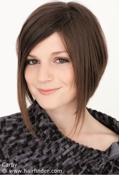 Short Haircuts Long In Front Short In Back Zig Zag Part Google Search Short Hair Styles Easy Short Hair Styles 2014 Bob Hairstyles
