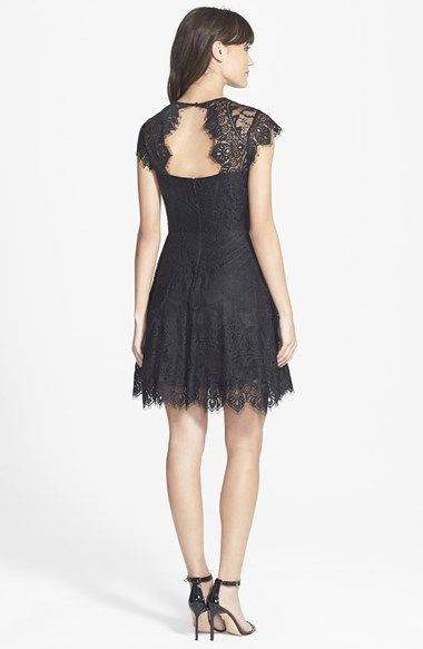 BB Dakota 'Rhianna' Illusion Yoke Lace Fit & Flare Dress | Nordstrom