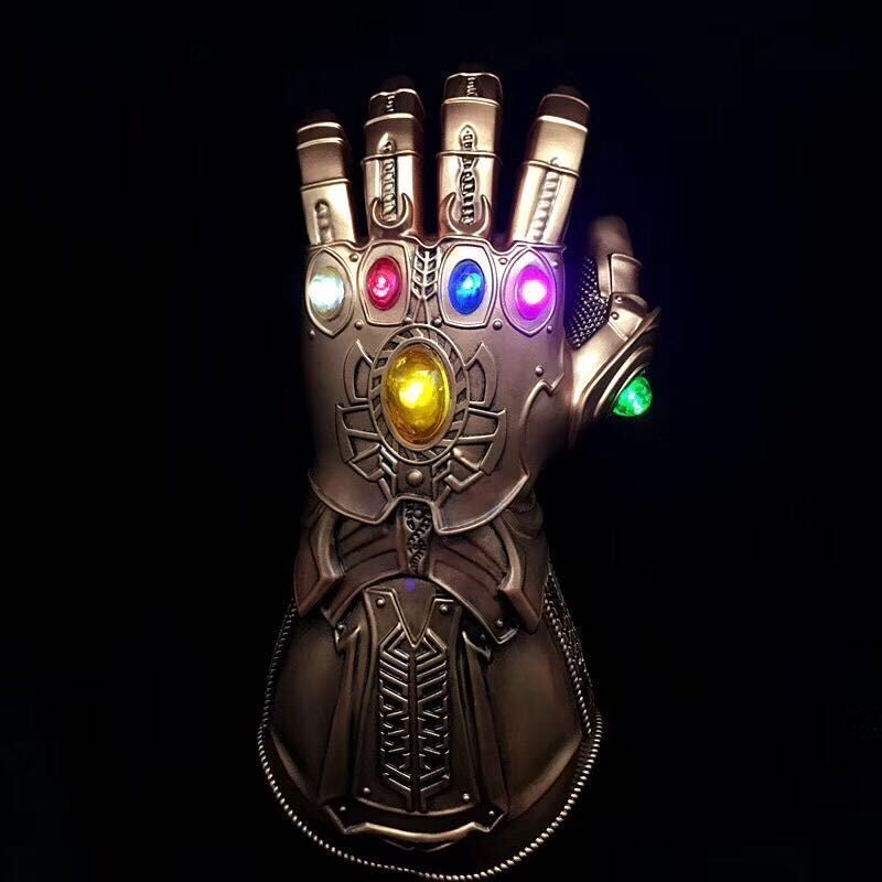 Marvel Avengers Infinity War Infinity Gauntlet LED Light Thanos Gloves PVC