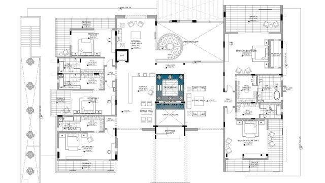 Bespoke Luxury House Plan In Dubai By Luxury Antonovich Design Luxury House Plans House Plans Classic House Design