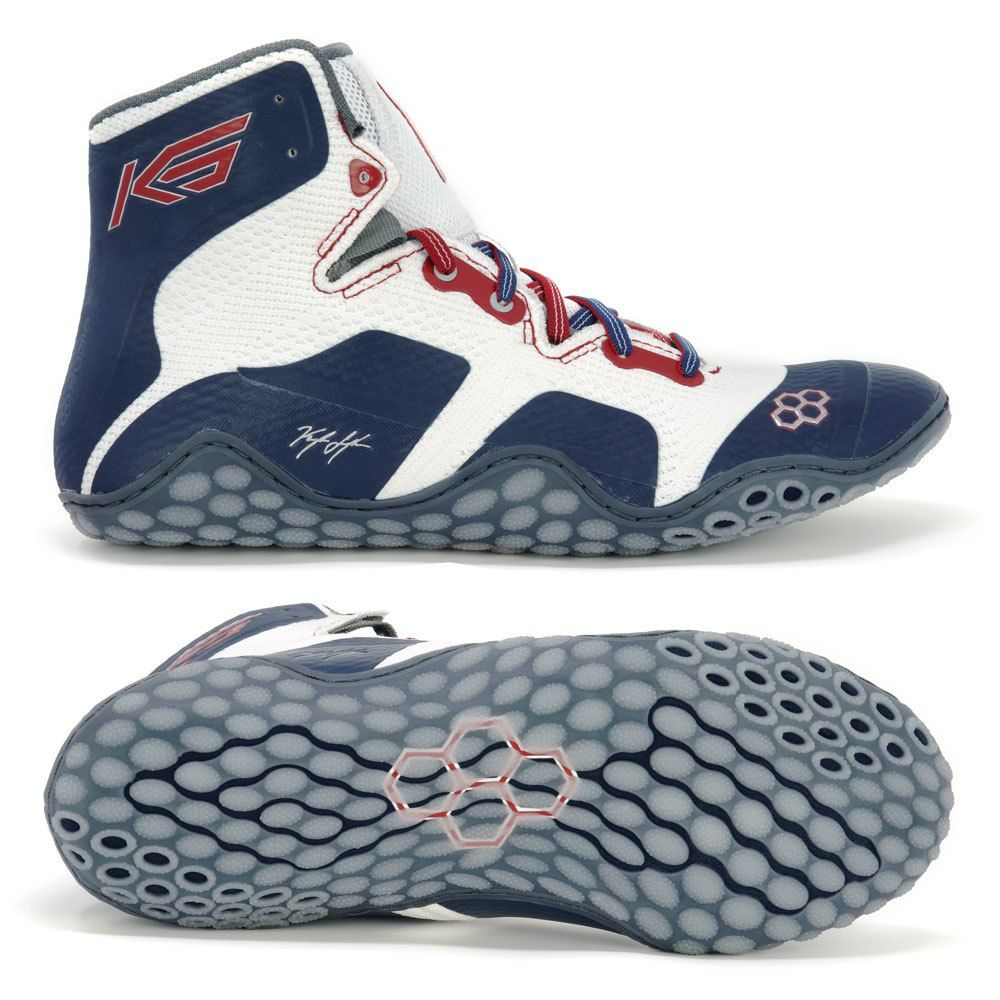 wholesale dealer 88be6 cfef0 Shop Kyle Snyder CALIGA Red, White, and Blue Adult Wrestling Shoes online  at therudis.com