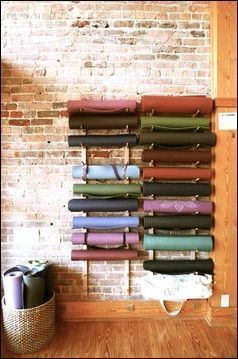 yoga mat storage ideas 59 -   11 fitness Yoga room ideas