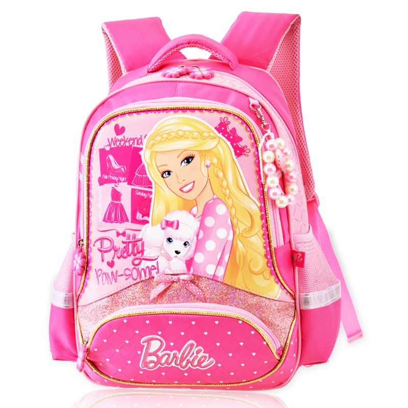 New Children Cartoon School Bag For Girls Students Princess Barbie School  Backpack Gift Mochila Kids Gilrs