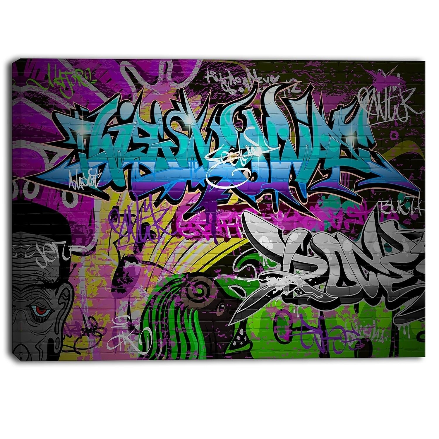 Designart graffiti wall urban art abstract street art canvas