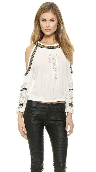 11b2827eae936 Free People Give Him the Cold Shoulder Top
