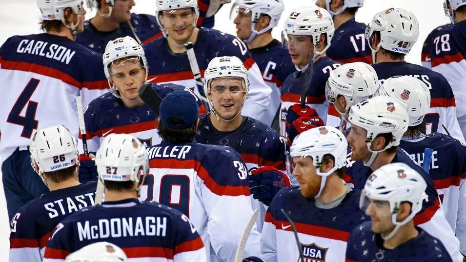 Us Men Crush Slovakia In Olympic Opener Olympic Hockey Team Usa Hockey Team Usa