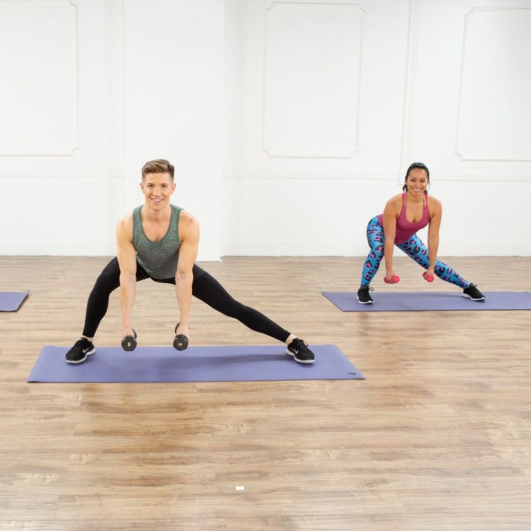 This 30-Minute Full-Body Cardio and Barre Toning Workout Leaves No Muscle Unworked — POPSUGAR #cardiobarre
